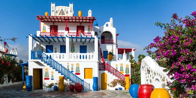 Alojarse en Ano Mera, Mykonos