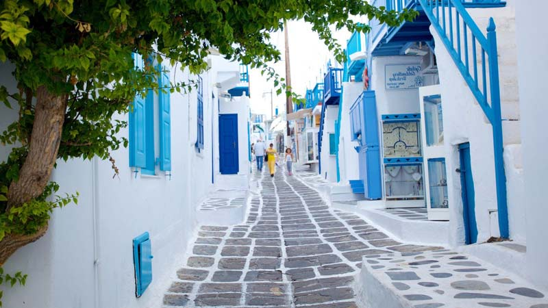Donde alojarse en la Ciudad de Mykonos