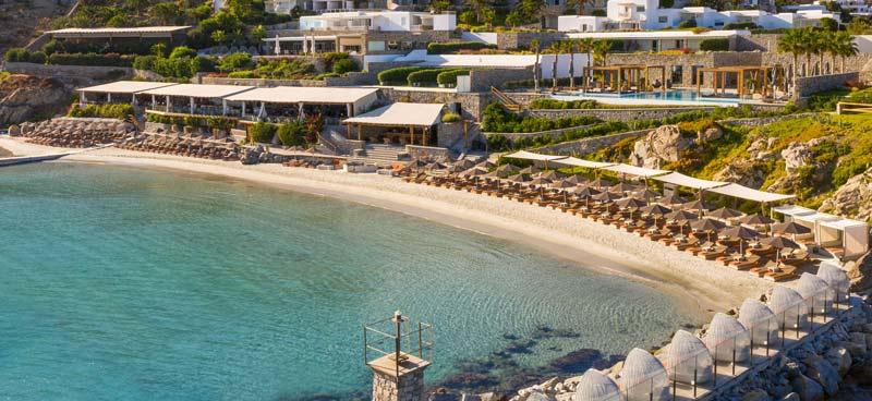 Alojarse en Mykonos playas Ornos