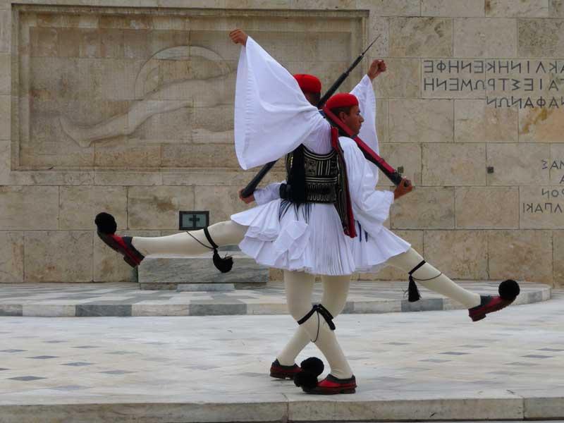 Ceremonia del cambio de Guardia de Atenas