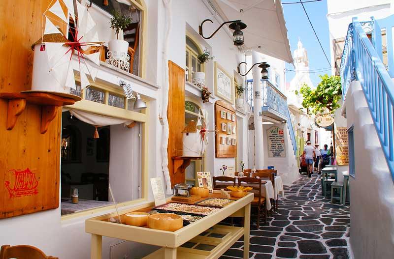 Salir de compras en Mykonos Town