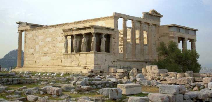 El Erecteon o Erecteion de la Acropolis de Atenas