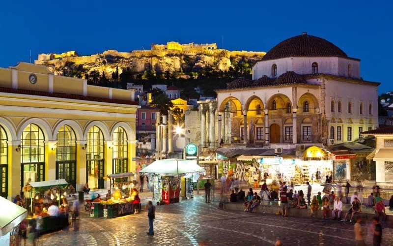 Barrio de Monastiraki en Atenas