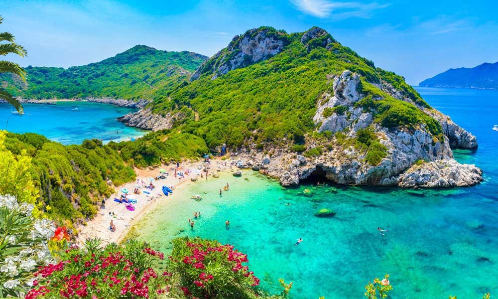 Playas en Corfu Grecia