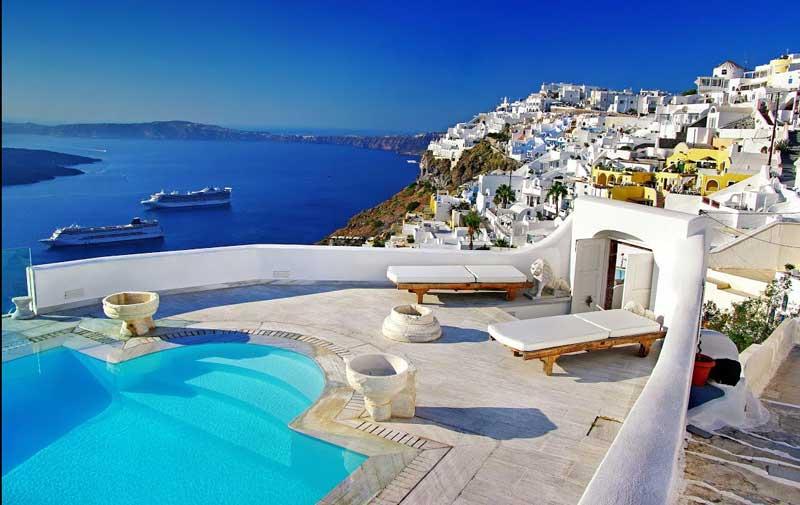 Vacaciones románticas en Santorini