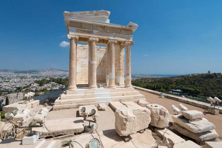 Templo de Atenea Niké o conmemora la victoria sobre los persas