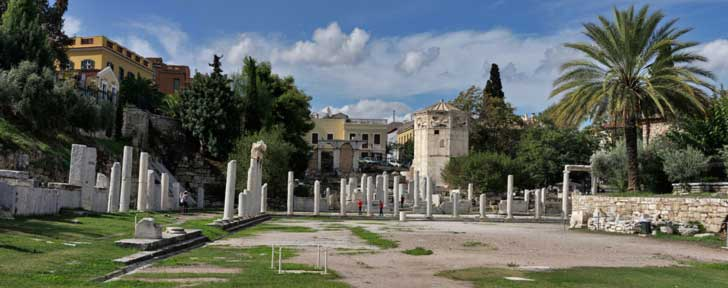 El Ágora romana es una de las más antiguas plazas pública de Atenas
